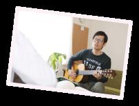 ギターの練習風景